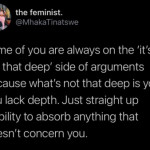 Most of the time it's gaslighting