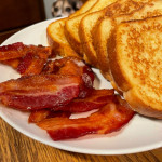 French toast and bacon strips