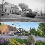Molenweg in Groesbeek, February 1945 and 2021