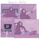 Bad days happen, but there's always tomorrow. It's okay to spend the day just trying to chill out before the work week