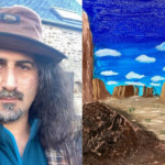 Osama bin Laden's son is a painter. America is his muse