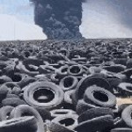 The world's largest tyre graveyard