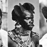 Rwandan men with Amasunzu hairstyle, 1920-1930