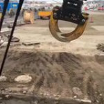 Stacking slabs with a crane