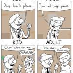 Seeing the Doctor: Kid vs. Adult 😂