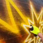 This work of streetart (OP was fatcapsprays on tiktok)