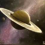 Oil painting of Saturn I did earlier this year. What do you guys think?