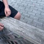 Kid blindly jumps off a building into water