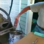 Using a hammer drill while it's smoking?