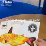 This aquarium allows kids to see the fished they drew inside it!