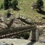 Rockslide takes down bridge