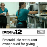Shopping center suing local restaurant. For giving employees Sunday off