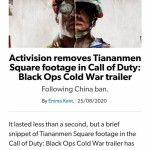 Activision bends to China again
