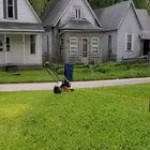 How to accomplish this without any 'overlap' on the path of the lawnmower