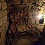 Bone throne in the Paris catacombs