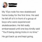 Skaters are super supportive
