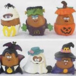1992 McNuggets Halloween Happy Meal toys. Came in a plastic Trick or Treat bucket