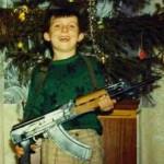 Russian kid at chrismas