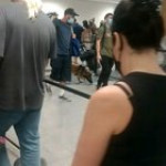 """Police Drug dog being used in ATL airport. A passenger was given a """"suspect bag"""" to make sure he was on point"""
