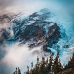Got a glimpse of Mt Rainier on a foggy day