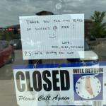 Local liquor store went under and left this note