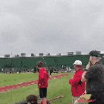 The way this pole vaulter catches the pole at the end