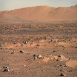 Mars Perseverance Rover viewed this image of Martian landscape using its Mastcam-Z imager