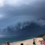 This cloud over western coast Greece