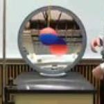 Pendulum and concave mirror