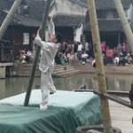 Stunts on bendy bamboo