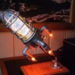 This DIY Rocketship Lamp