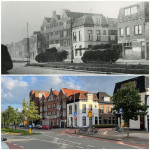 Groningen, during the Battle of Groningen, mid-April 1945 and nowadays