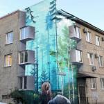 Drab apartment building made less drab