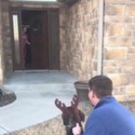 This daughter gets surprised by parents bringing the dog she takes care of in the shelter