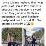 Husband gets wife a sword for graduation!