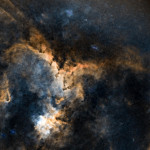 Starless heart of the Heart Nebula