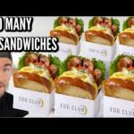 Huge breakfast sandwich cheat meal