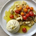 Crispy gnocchi with burrata & confit tomatoes