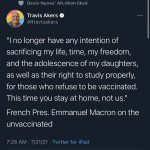 French President Macron knows exactly how to deal with anti-vax psychos
