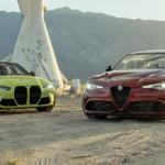 2021 BMW M3 Comp vs. Alfa Romeo Giulia Quadrifoglio Comparison Test: Four-Door Fire