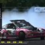 Norwegian drifter Tor Arne Kvia does awesome qualifying run, with his hood open!