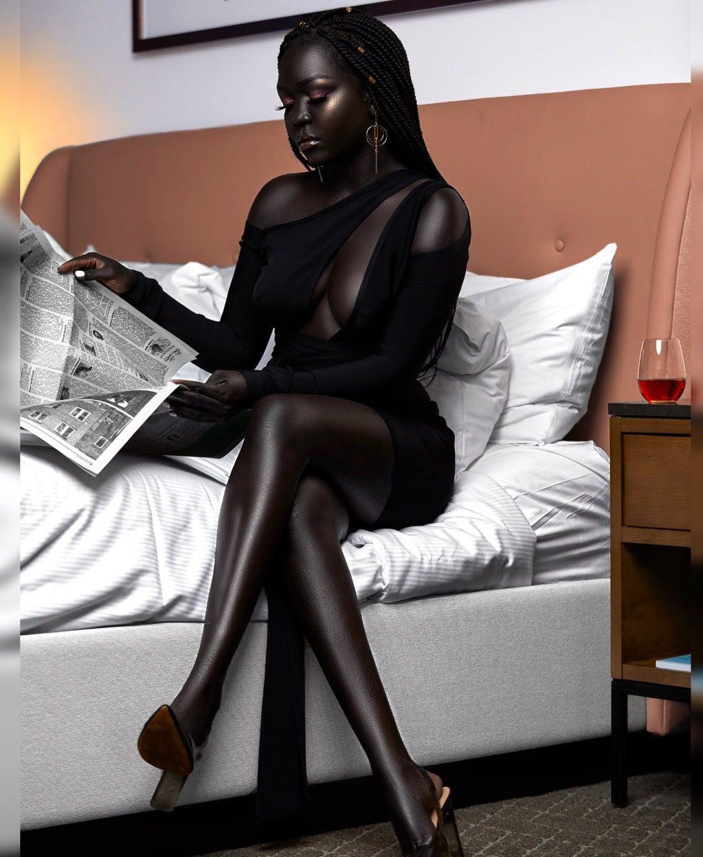 Nyakim Gatwech, a South Sudanese model