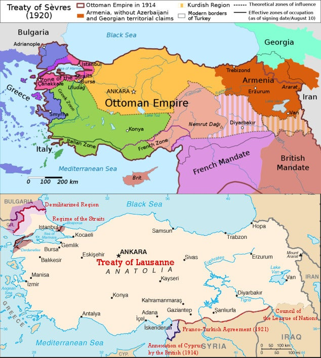 98 years ago today France and Britain signed the Treaty of Lausanne granting independence to Turkey, canceling the partition proposed by the Western powers earlier