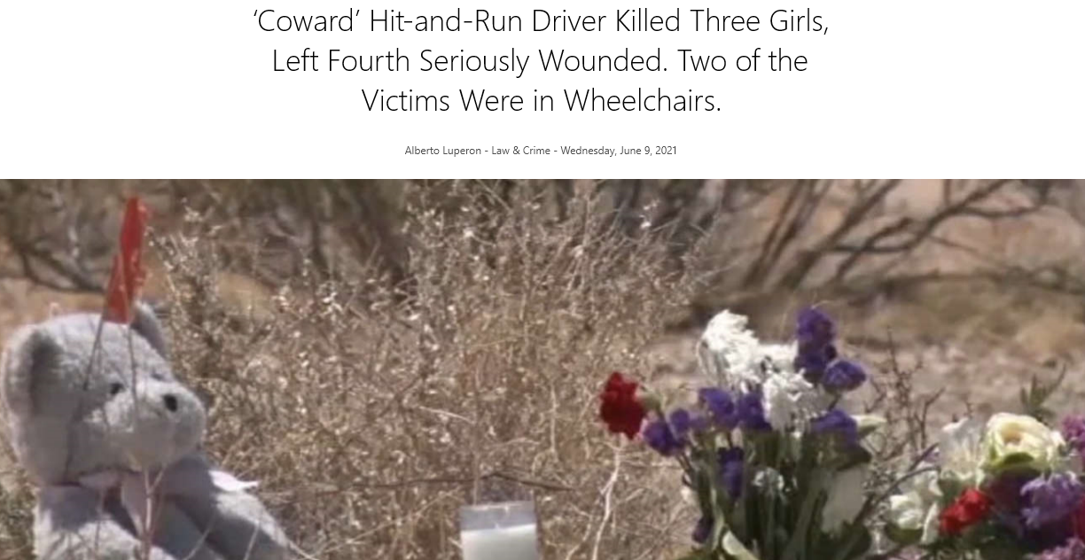 11, 12, and 13 year olds killed. Fourth girl (14) had leg amputated