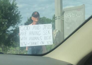 This man certainly has a message