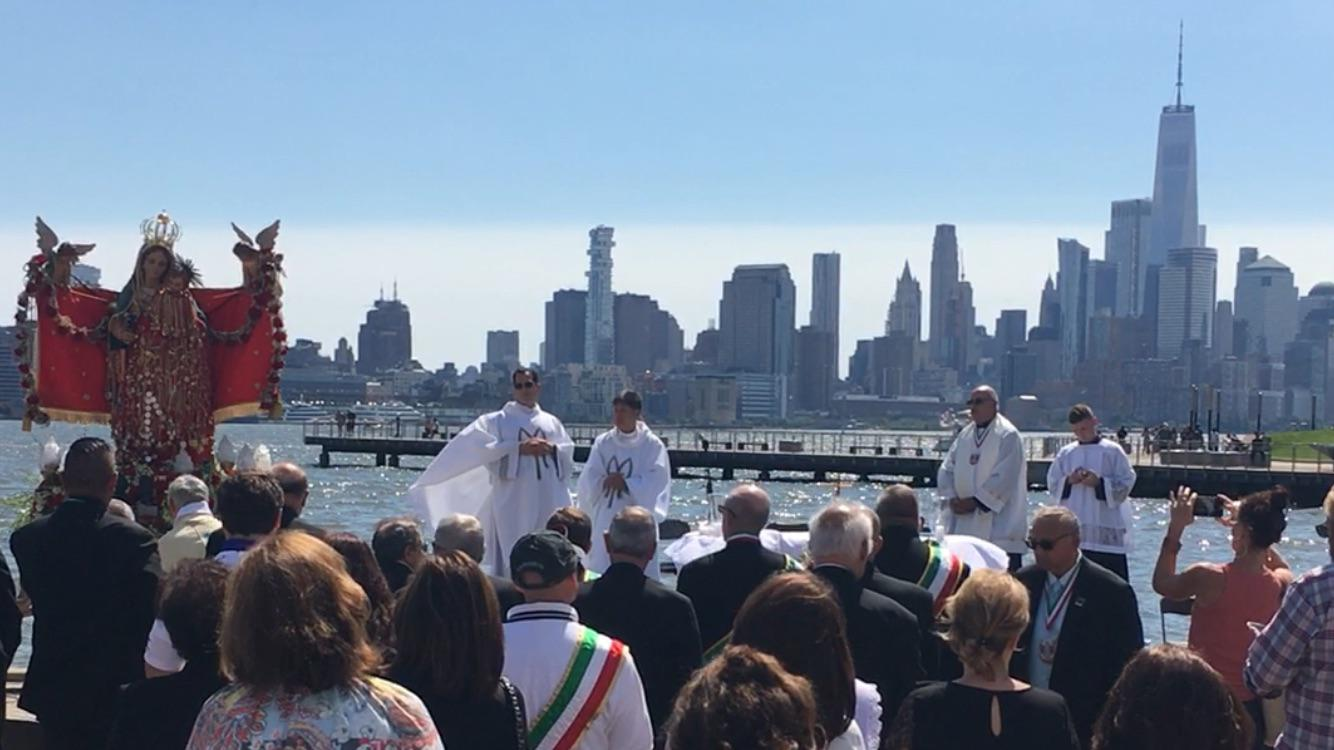Amazing Outdoor Mass for Feast of the Madonna dei Martiri