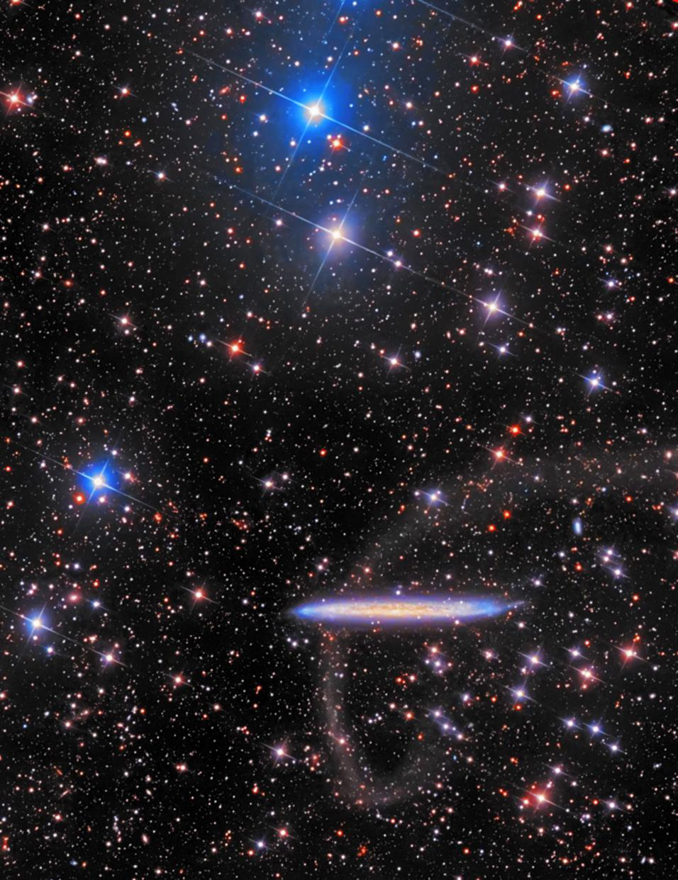 *NGC 5907 with a extremely faint tidal stream shot for more than 25+hrs