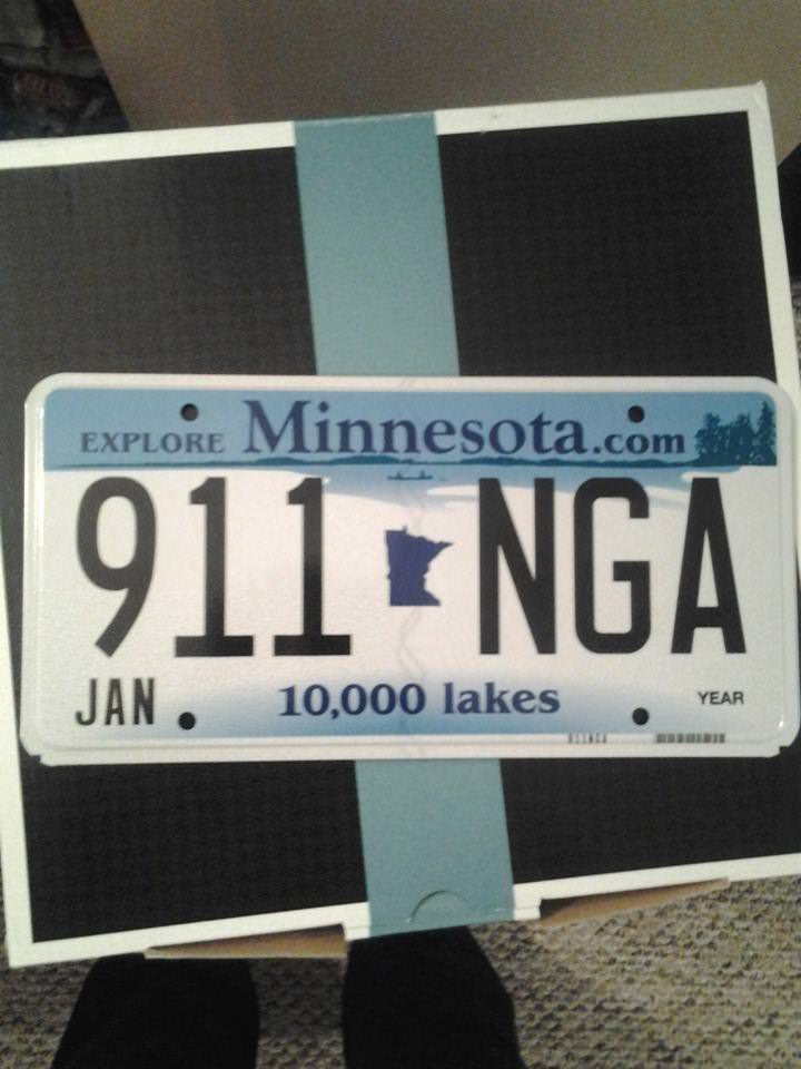 The unlucky state-provided license plate 😶