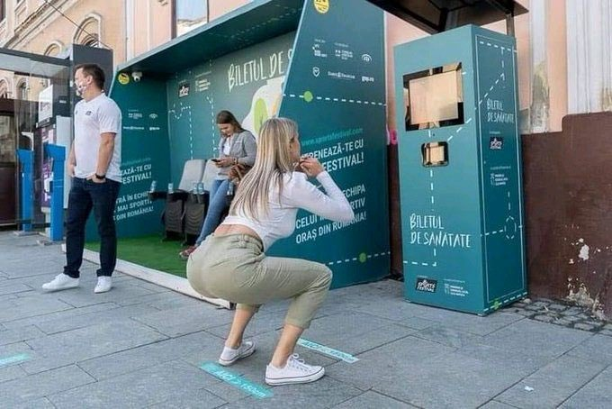Residents of Cluj-Napoca, Romania, can get a free bus ride if they do 20 squats