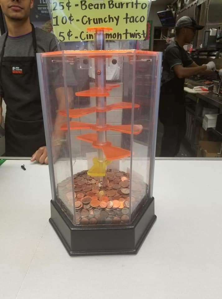 The coin game at Taco Bell